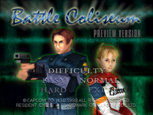 Battle Coliseum demo title screen